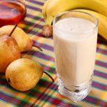 Vitamina de Banana com Mel e Pêra