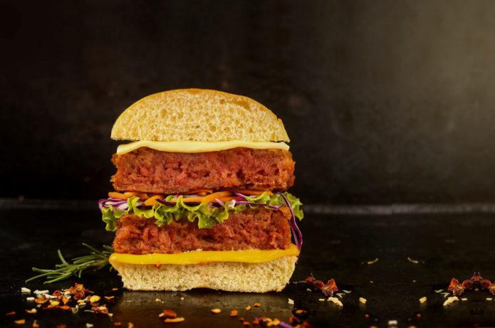 Hambúrguer gourmet vegano
